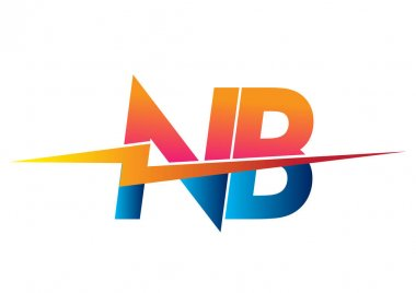 Letter NB logo with Lightning icon, letter combination Power Energy Logo design for Creative Power ideas, web, business and company. icon