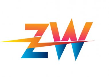 Letter ZW logo with Lightning icon, letter combination Power Energy Logo design for Creative Power ideas, web, business and company. icon