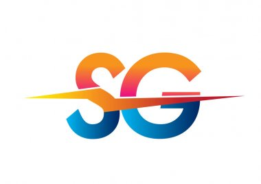 Letter SG logo with Lightning icon, letter combination Power Energy Logo design for Creative Power ideas, web, business and company. icon