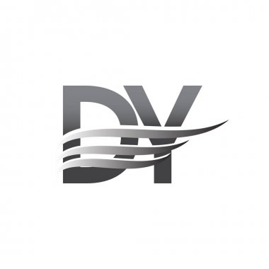 Initial DY wing logo, grey color vector logotype, logo for company name business and company identity. icon