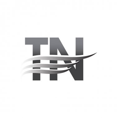 Initial TN wing logo, grey color vector logotype, logo for company name business and company identity. icon