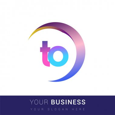 Initial letter TO logotype company name, colorful and swoosh design. vector logo for business and company identity. icon