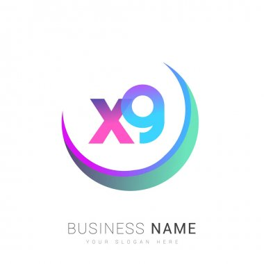Initial letter XG logotype company name, colorful and swoosh design. vector logo for business and company identity. icon