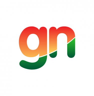 Initial Letter GN Logo Lowercase, colorful logotype Modern and Simple Logo Design. icon