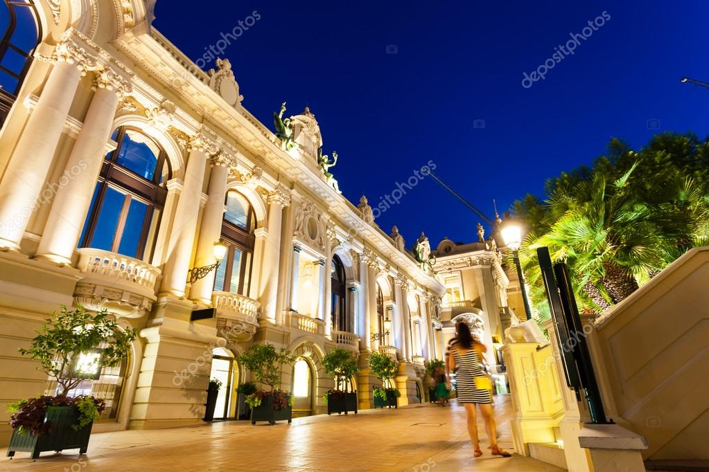 The grand Casino Monte - Carlo at night. Monaco