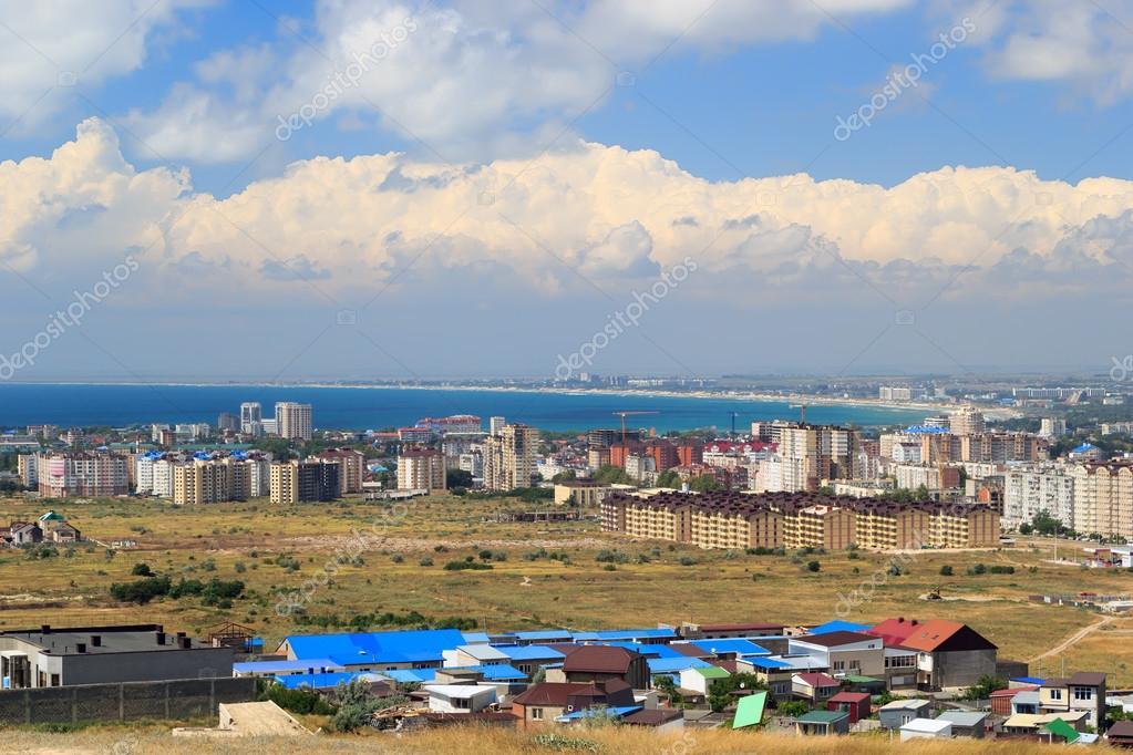 Aerial panorama of Anapa resort city, Russia