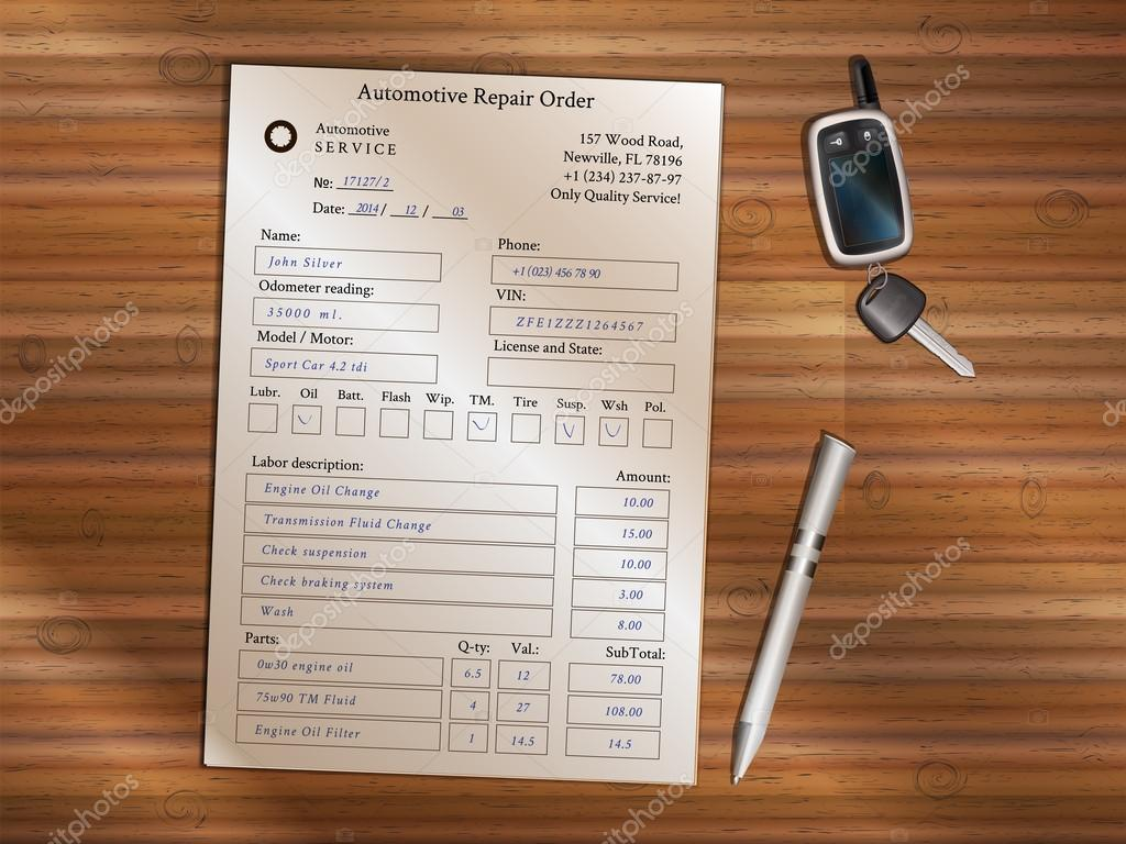Automotive Repair Order Concept