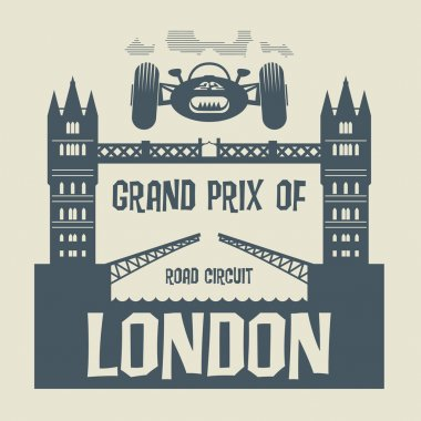 Abstract background with the words Grand Prix of London
