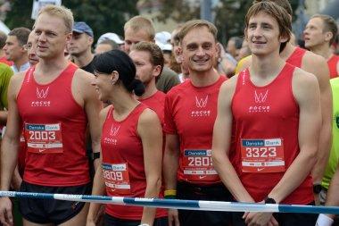 Runners on start of Vilnius Marathon