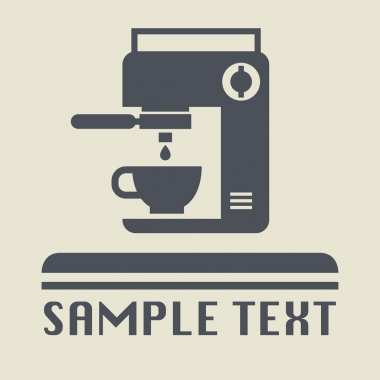 Coffee machine icon or sign