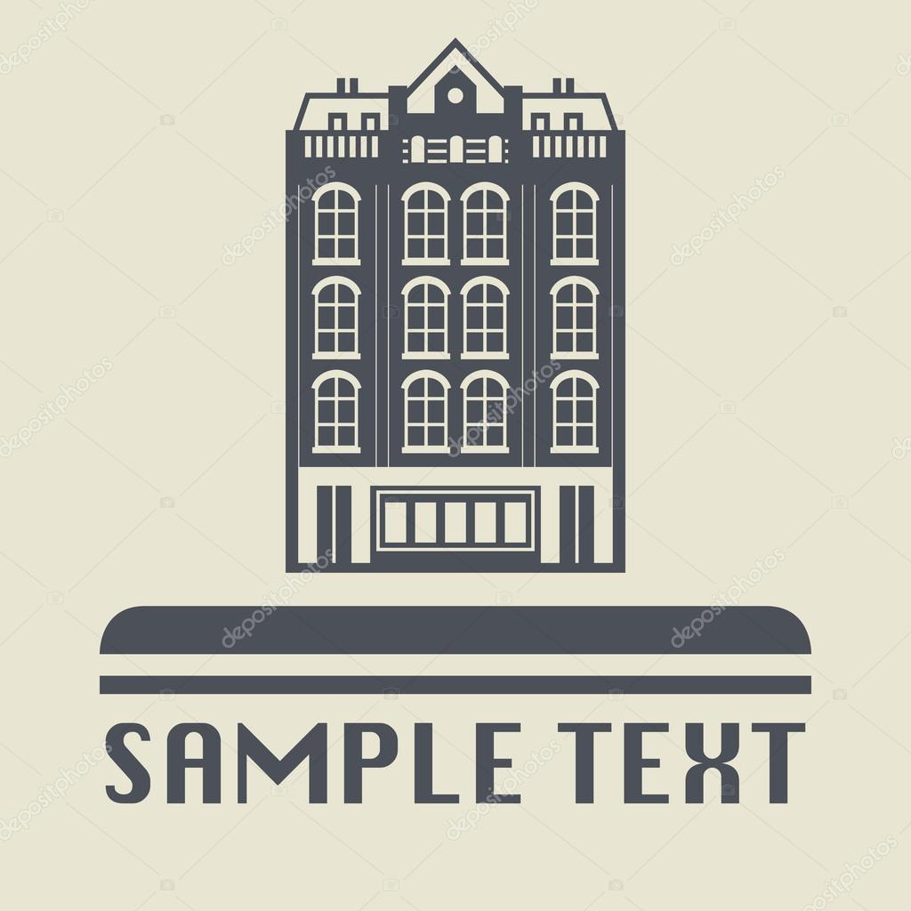 City building icon or sign