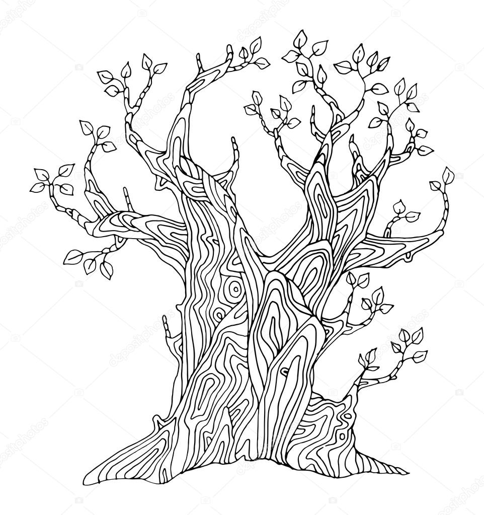 Hand drawing tree