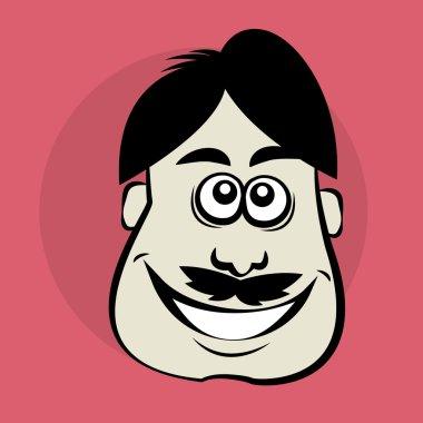 Smiling cartoon face