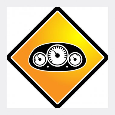 Car instruments icon or sign