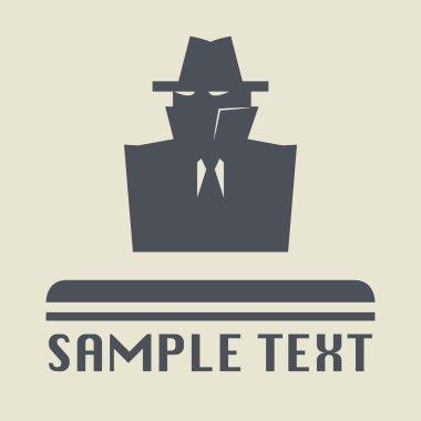 Secret spy icon or sign