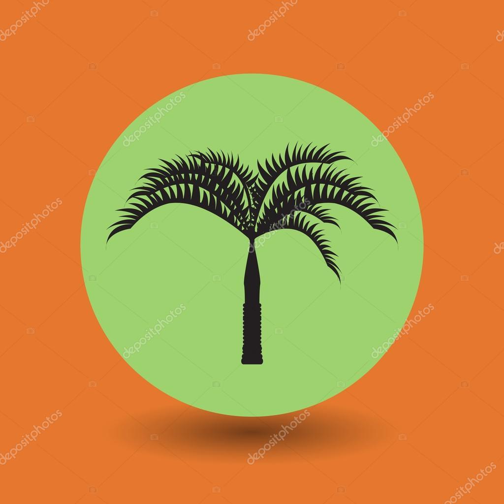 Tropical Palm Tree Symbol Stock Vector Fla 73342203