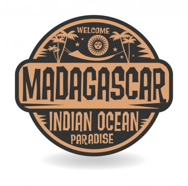 Stamp or label with the name of Madagascar, Indian Ocean