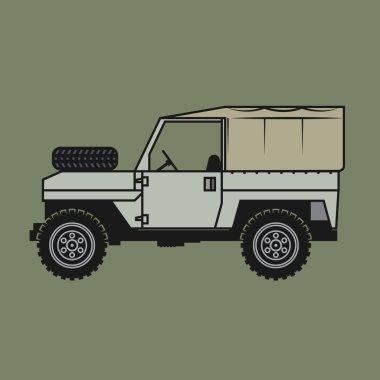 Off-road vehicle, vector