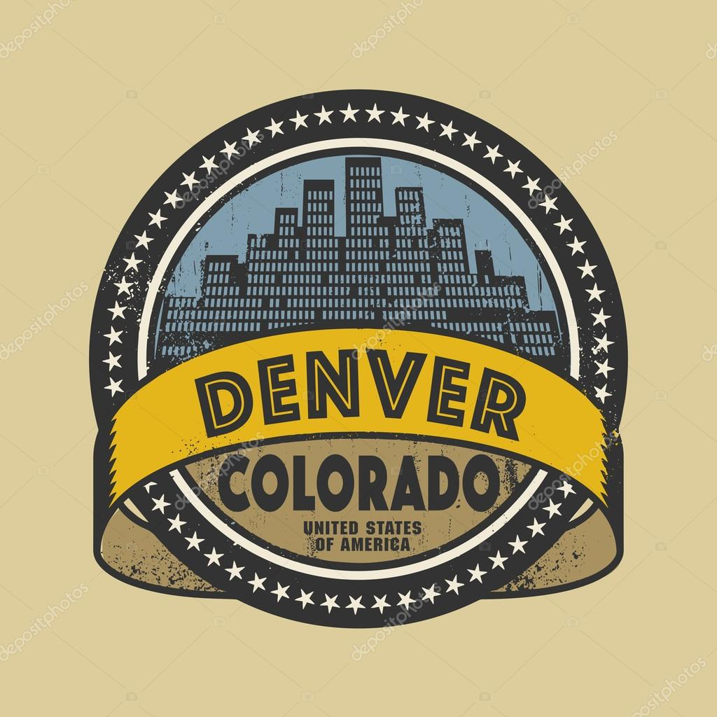 Grunge Rubber Stamp With Name Of Denver Colorado Stock Vector