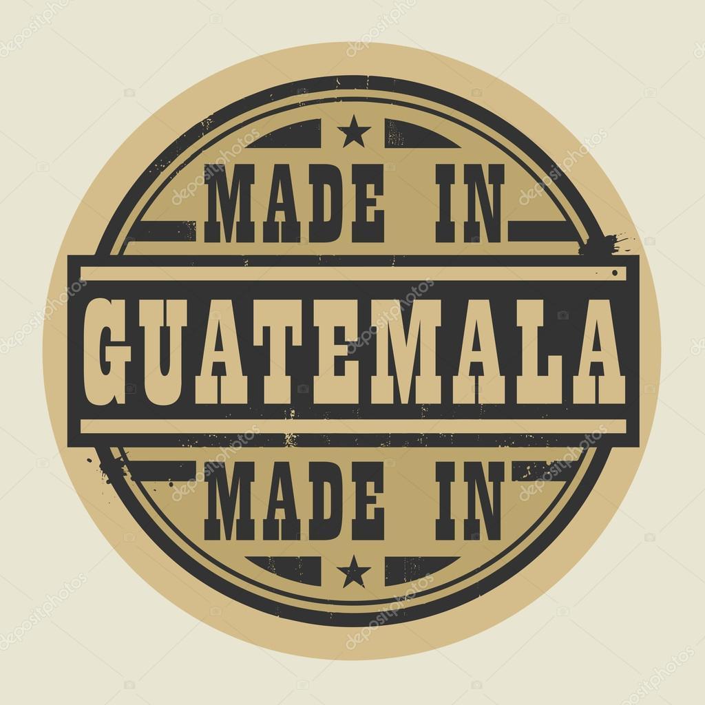 Resumen sello o etiqueta con el texto hecho en Guatemala — Archivo ...