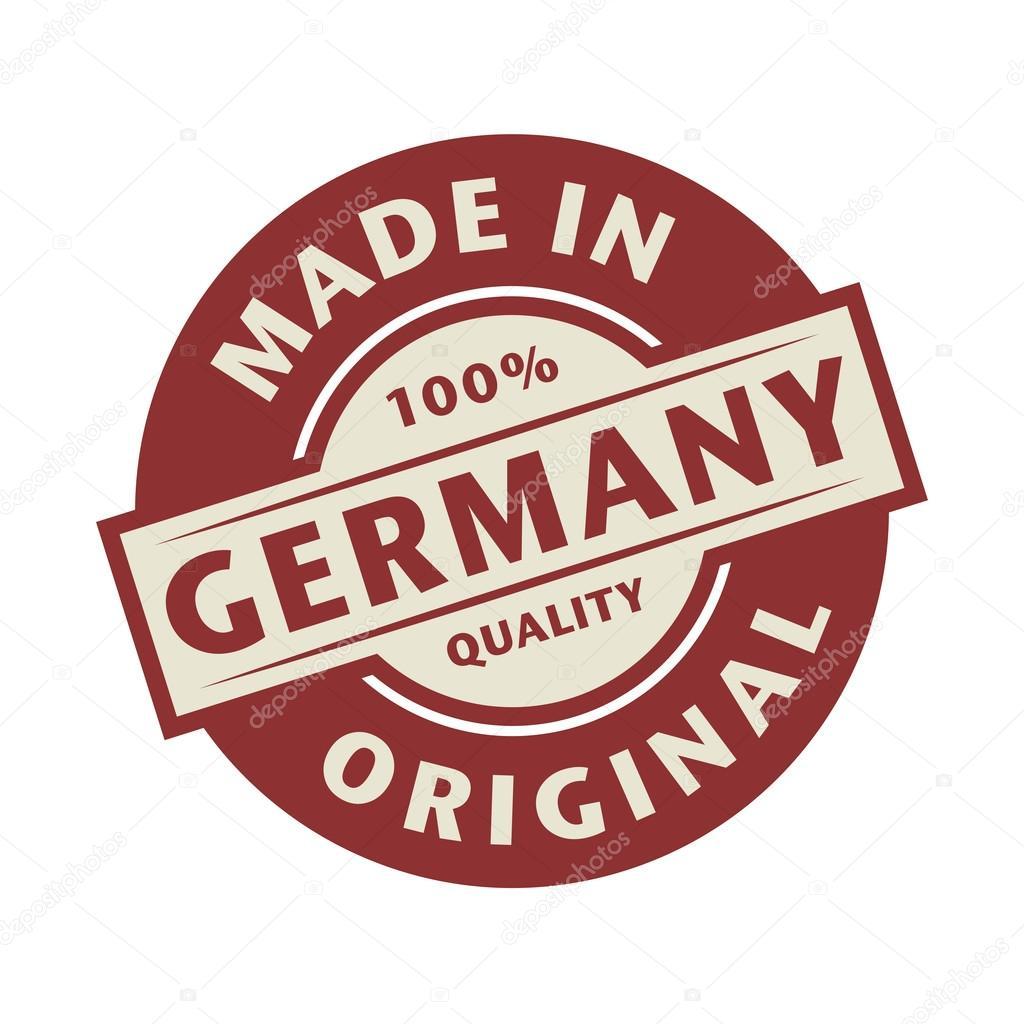 Resumen sello o etiqueta con el texto hecho en Alemania — Archivo ...