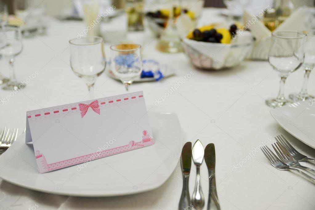 software para hacer invitaciones de bautizo mesa con platos