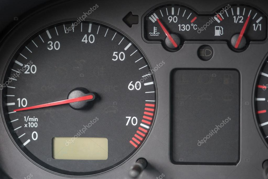 Tachometer, Engine Water Temperature Indicator, Fuel Tank Indicator. Volkswagen  Golf Car. U2014 Photo By Costinc79