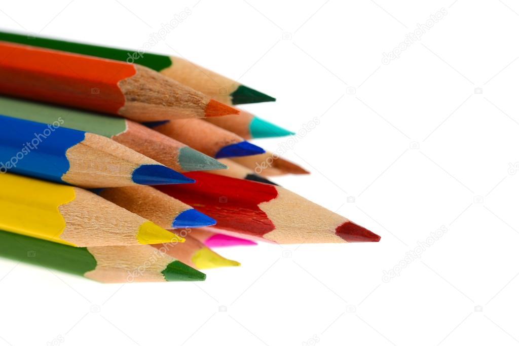 Grupo de crayolas para colorear aislados en fondo blanco — Fotos de ...
