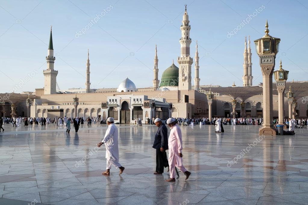 nabawi mosque medina saudi arabia stock editorial photo