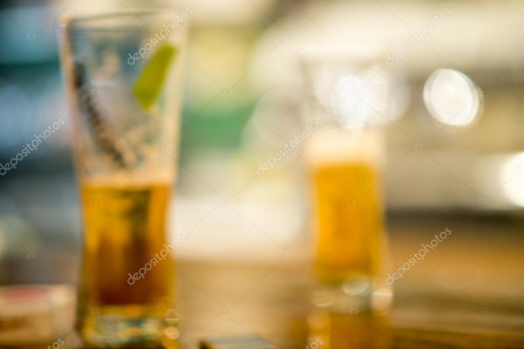 unscharfes Bild kühle Getränke im Café mit Bokeh Hintergrund, kalt ...
