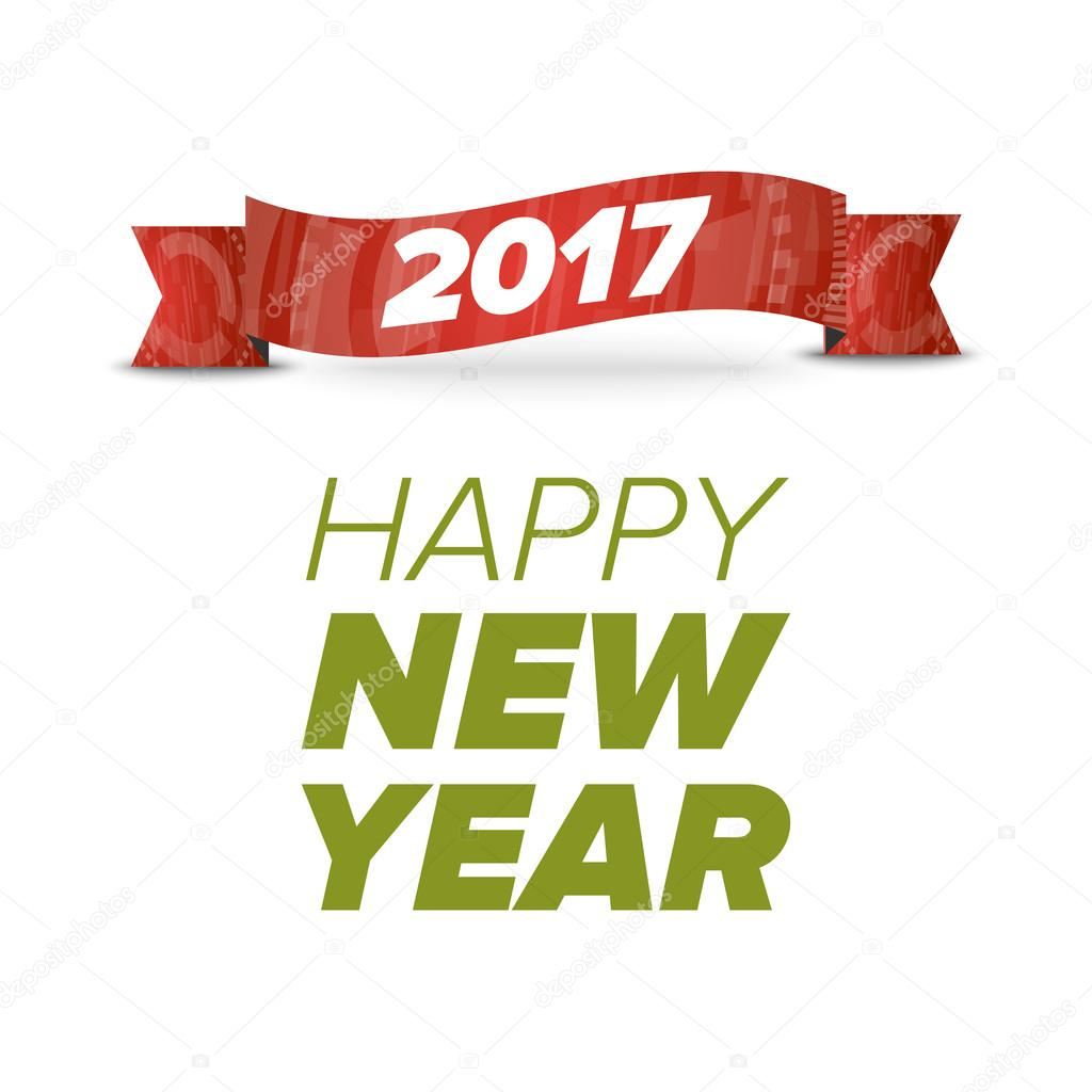 happy new year banner stock vector