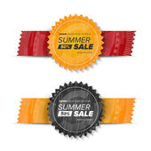 Letní prodej kruhu nálepky