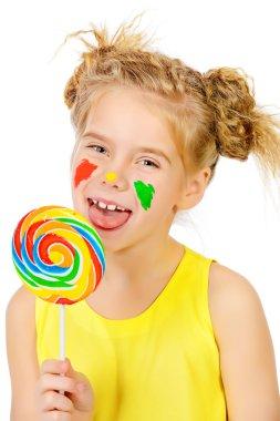 sweet lollipop. Happy childhood.