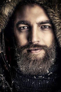 winter man with beard