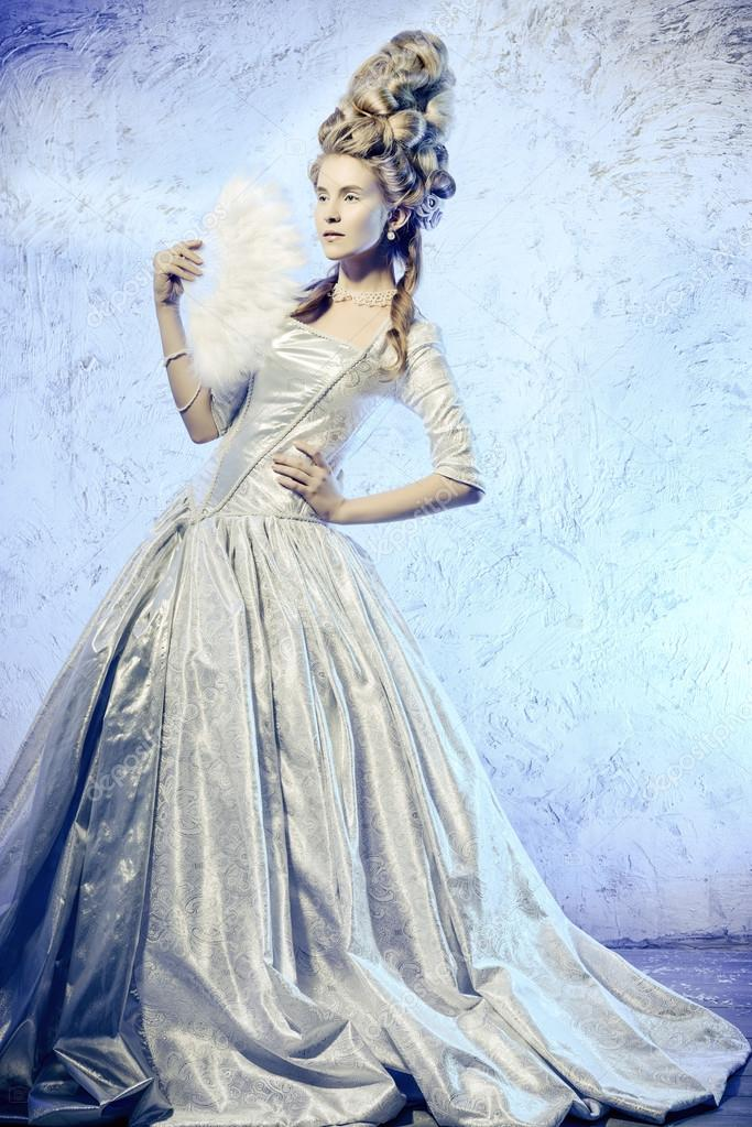 Renaissance Historische Kleidung Frisuren Geschichte Stockfoto