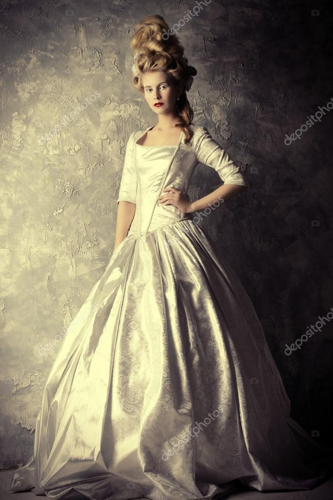 Renaissance Dress Historical Dress Hairstyles History Stockfoto