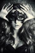Fotografie schwarze Gesichtsmaske