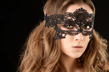 carnival mask. Beautiful sexy gir