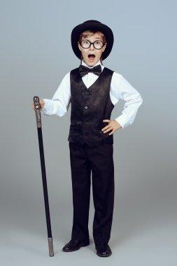 elegant gentleman. Children fashion.