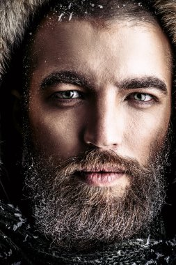 life experience, brutal man with beard