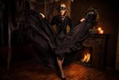 Charmanter Alptraum. Halloween-Konzept.