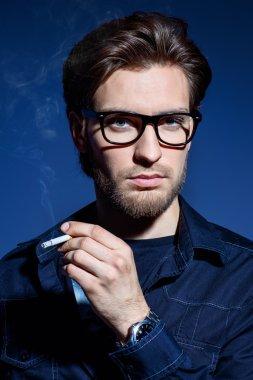 creative profession. Men's beauty, fashion. Optics style.