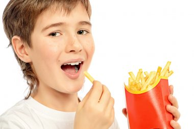 eating french fries