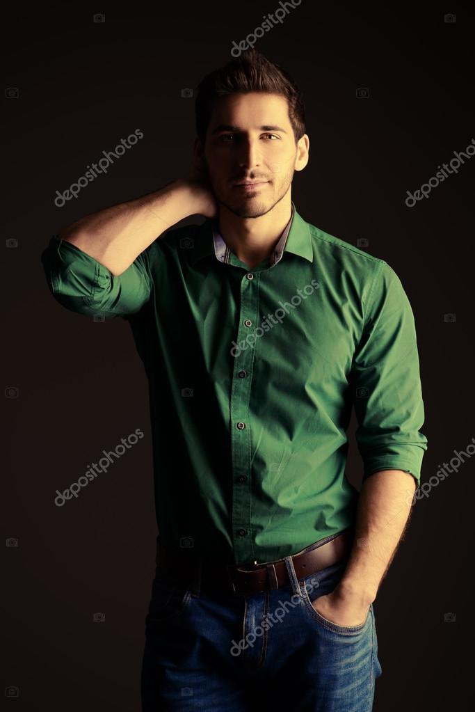 Satisfied man. Mens beauty. — Stock Photo © prometeus