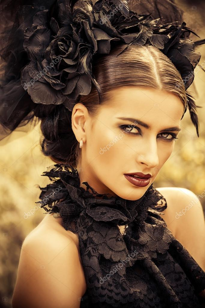 Belle Gothique Maquillage Coiffure Photographie Prometeus