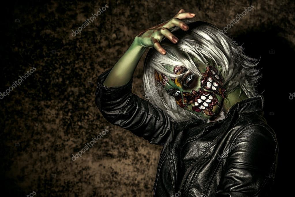 Tag Des Jüngsten Gerichts Halloween Make Up Stockfoto Prometeus