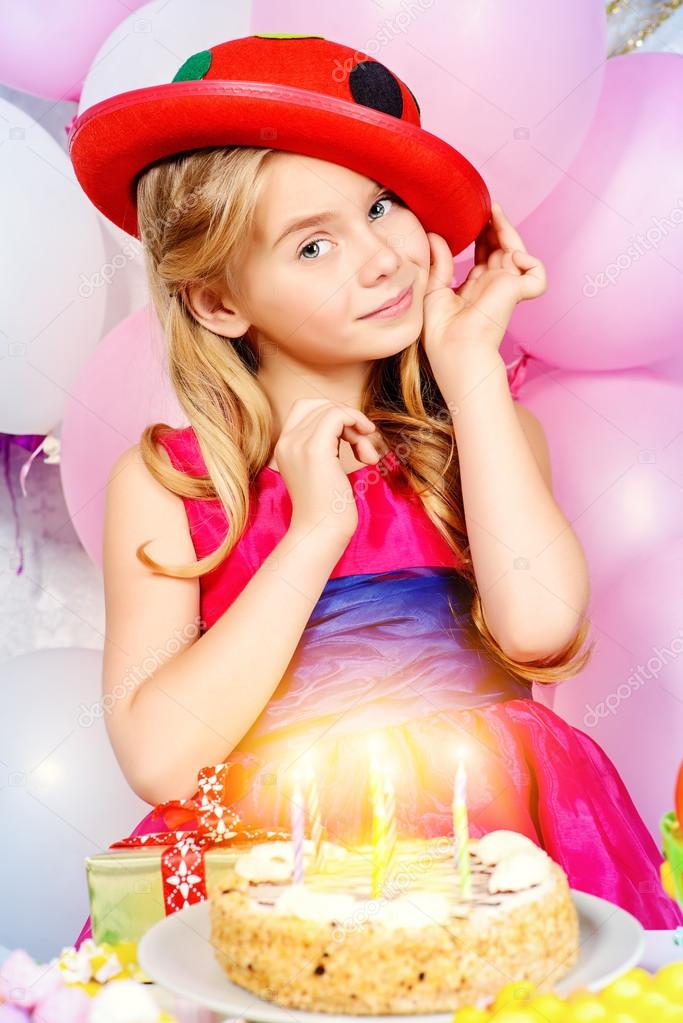 Birthday Cake Cute Happy Child Girl Stock Photo Image By C Prometeus 124613358