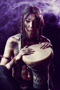 playing drum