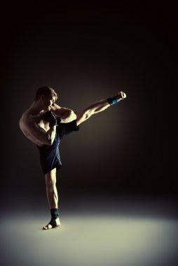 performing kick
