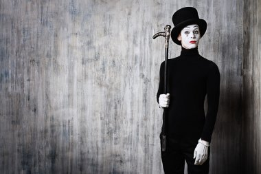 mime and a stick